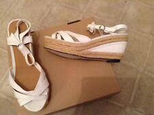 White Espadrilles Wedge Platform Sandals ShoesSizes 4, 5, 6 State Size On Order