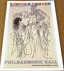 Ben Shahn  Poster Pirnt- For 1962 Opening Event   LC 16X11 Unsigned