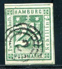 HAMBURG 1864 9 gest drei SChnittlinien + 100% sign RICHTER(E1210