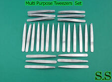 MULTI PURPOSE 1200 PCS TWEEZERS SLANT SATIN FINISH EXCELLENT