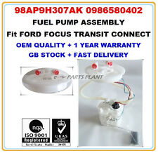 FORD FOCUS MK1 MK2 PETROL INTANK FUEL PUMP ASSEMBLY 98AP9H307AK 0986580402