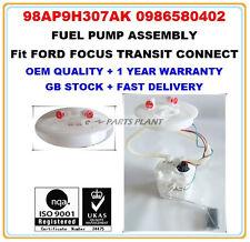 FORD FOCUS MK1 MK2 PETROL INTANK FUEL PUMP ASSEMBLY 98AP9H307AK 0986580402