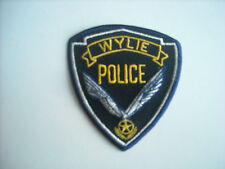 """""""New Condition""""  Wylie Texas Police Sleeve Patch"""