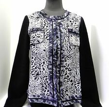 """NWT """"Chicos"""" Jacket Open Front Animal Print Lightweight Long Sleeve Size 1"""