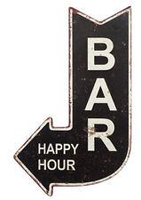 Nostalgisches Blechschild BAR Happy Hour Wegweiser Vintage 40x25cm