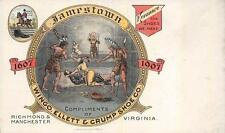 JAMESTOWN EXPOSITION WINGO ELLETT & CRUM SHOE COMPANY VIRGINIA AD POSTCARD 1907