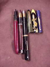 SHEAFFER, 6 PC PARTS/RESTORTION LOT, 3 CAPLESS PENS/3 CAPS, 2 GOOD GOLD NIBS
