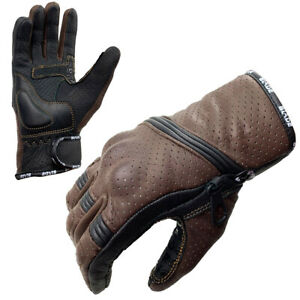 Blade® Best Summer Motorcycle Motorbike Gloves Leather Knuckle Protection