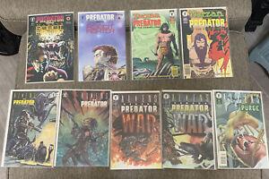Aliens Vs Predator (lot Of 9 Issues) 3-4, WAR #0-1, Tarzan 1-2, Robot Fighter1-2