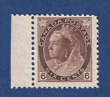 Canada Stamps #80 6c brown QV numeral Issue F/F+ mnh see photo