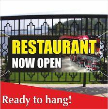 Restaurant Now Open Banner Vinyl / Mesh Banner Sign Grand Opening New Management