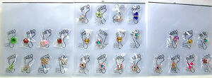 "Crystal & Enamel ""Invisible"" Elastic Band Toe Rings Assorted Designs *New*"