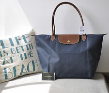 Longchamp le pliage Tote large 1899 graphite Made in France Authentic Brand New