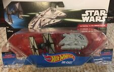 Star Wars Hot Wheels Tie Fighter Vs Millennium Falcon Force Awakens set