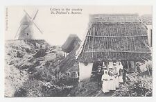 St.Michaels,Azores,Portugal,Cellars in the Country & Windmill,c.1909