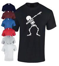 Kids Boys Girls Dubbing Skeleton T-Shirt flossing dance Skull Gamer Tee