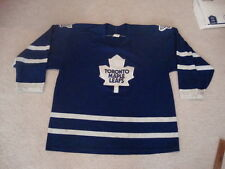 Vintage NHL Toronto Maple Leafs CCM Blue Sewn Cool Jersey XL