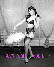 BETTIE PAGE 8X10 Lab Photo Pin Up Queen Leggy Sexy Beauty LINGERIE