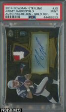 2014 Bowman Sterling Gold Refractor Jimmy Garoppolo RC Rookie /99 PSA MINT