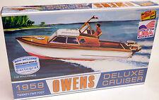 LINDBERG 1/25 1959 Owens 22' Deluxe Cruiser Boat Plastic Model Kit 222  HL222