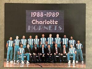 Charlotte Hornets NBA Original 1988-1989 Team Poster Vintage NM CLT
