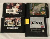 Sega Genesis Sports Games Lot Lemieux Hockey Montana Football, NBA 96, Baseball