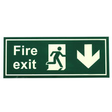 Fire Safety Exit Sign Warning Guidance Signage Luminous Fr Stairway Hotel O V6C8