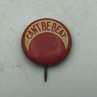 """Vintage CAN'T BE BEAT Crescent Moon? 5/8"""" Button Pin Pinback Not Sure Antique S3"""