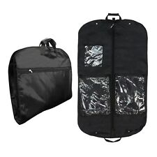 Hangerworld™ Pack of 3 Black 44 in Nylon Carry Clothes Covers Garment Travel Bag