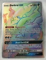 Darkrai GX RAINBOW SECRET RARE 158/147 Pokemon SM Burning Shadows NM