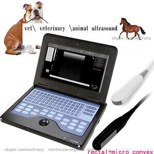 VET Veterinary CE Notebook Laptop Ultrasound Scanner+rectal linear+micro convex