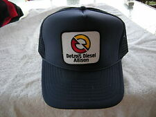 DETROIT DIESEL ALLISON TRUCKER HAT,   ( ADJUSTABLE Sizing,COLOR NAVY BLUE
