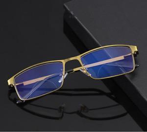 Matte Gold Transition Bifocal Reading Glasses Photochromic Anti Blue Magnifier