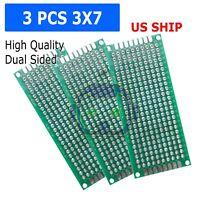 3pcs 3X7 DIY Prototyping Board PCB Printed Circuit Prototype Breadboard Arduino
