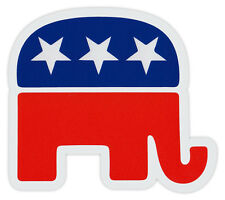Bumper Sticker Decal - Republican Party Elephant - Conservative (Die-Cut)