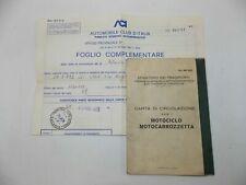 1979 LAVERDA ZUNDAPP 125-LZ ITALY OWNER CERTIFICATE CARTA CIRCOLAZIONE DOCUMENT