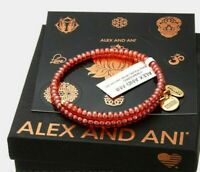 Authentic Alex and Ani Color Palette, Apricot Rafaelian Gold Bangle Wrap