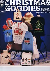 Christmas Goodies Iron On Transfers for Fabric painting Embroidery Appliques