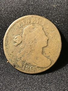 1803 Draped Bust Large Cent Large Date Scarce Copper Coin redbook variety