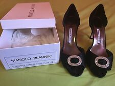 Black Satin Manolo Blahnik Sedaraby pumps 42