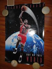 "MICHAEL JORDAN ORIGINAL FULL SIZE  POSTER ""OUT OF THIS WORLD"" 1995 COSTACOS"