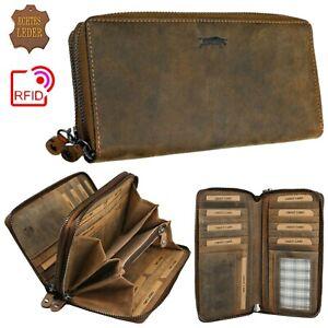 RFID - Ven Tomy Geldbörse Geldbeutel Leder Natur Damen Brieftasche Portemonnaie