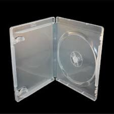 25 Single Clear Blu ray Case 14 mm Spine New Empty Replacement Disk Amaray Cover