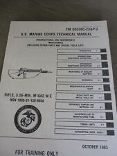 USMC Technical Manual TDV M16A2 Maintenance Parts Tools Army Vietnam Marines WK2