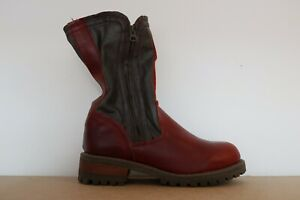 CAT CATERPILLAR WOMENS BOOTS LADIES PIPER CASUAL RED LEATHER ZIP HIGH UK 5
