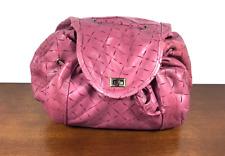 Winifred Wejman Pink Leather Cinch Purse, Shoulder Bag