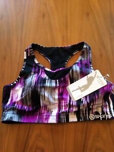 womens SKINS A200 active cropped top size L