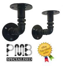 Steel Shelving Brackets (pair) 80mm | Steampunk / Industrial | HANDMADE IN UK!