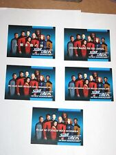 1992 STAR TREK THE NEXT GENERATION INAUGURAL FOREIGN LANGUAGE CHASE INSERT SET