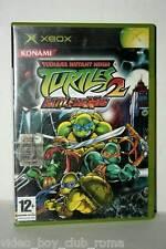 TURTLES 2 BATTLE NEXUS USATO XBOX EDIZIONE ITALIANA PAL PRIMA STAMPA FR1 37562
